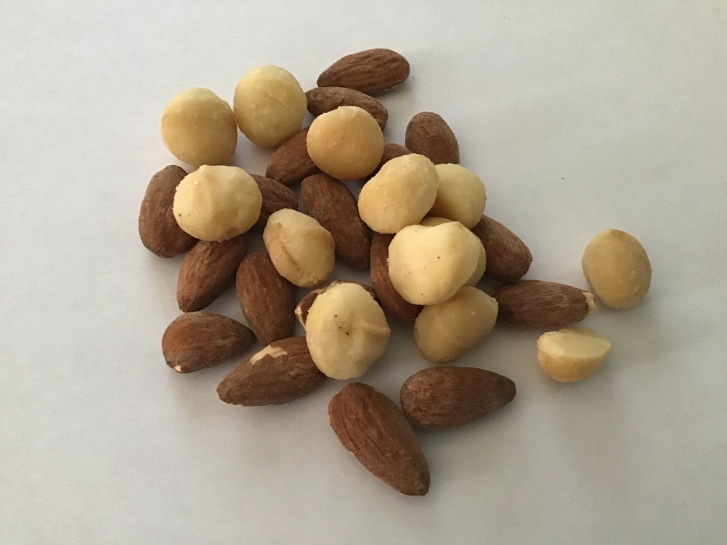 Almonds macadamia nuts