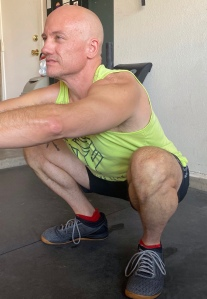 Bottom of squat position